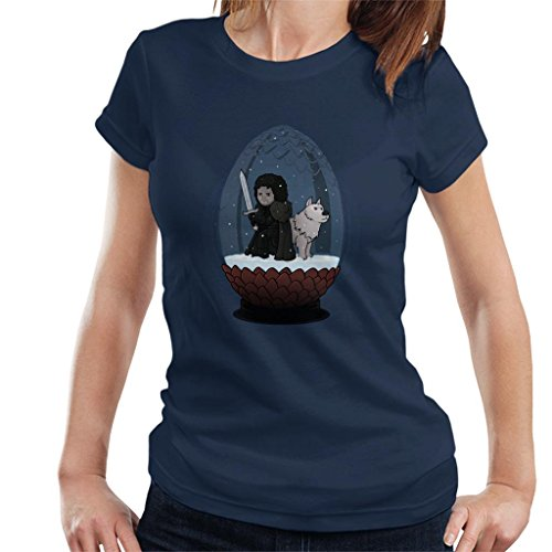 Game of Thrones John Snow Globe Let It Snow Women's T-Shirt