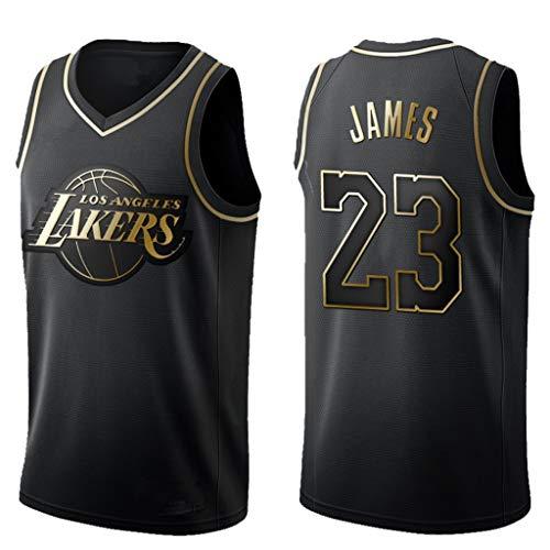 papaxiong Herren Basketball Jersey New Gold Lakers James # 23 Besticktes Basketball Top Wear