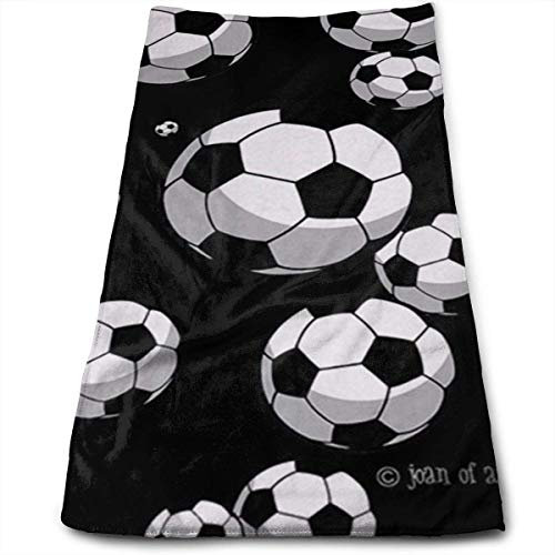 """DAICHAI Soccer Microfiber Beach Towel Large & Oversized - 11.8\""""X27.5\"""" Towels, Best for Outdoor & Camping, Sports, Travels, Quick Drying and Super Absorbent Technology"""
