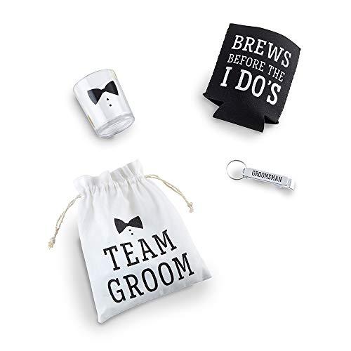 Kate Aspen 00170NA Team Groom Set Groomsman Geschenk, One Size, schwarz -