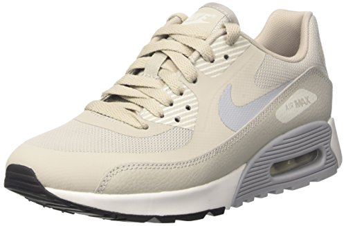 Nike Damen W Air Max 90 Ultra 2.0 Laufschuhe, Mehrfarbig (Pale Grey/Wolf Grey/Summit White/Black), 40.5 EU