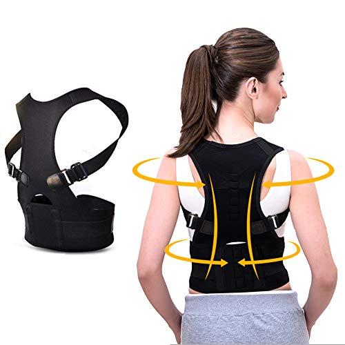 KINDAX Correttore Postura Schiena Regolabile Fascia Correzione Posturale Spalle Design Traspirante per Aggiustare la Postura e Alleviare Mal di Schiena, Collo e Spalle per Uomo Donna (Taglia XL)
