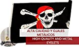 Bandera De Barco Pirata Pata Palo  Grande Súper Resistente  Para Exteriores y Fiestas de Niños   150x90 cm  Mira