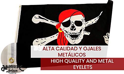 Bandera De Barco Pirata Pata Palo  Grande Súper Resistente  Para Exteriores y Fiestas de Niños...