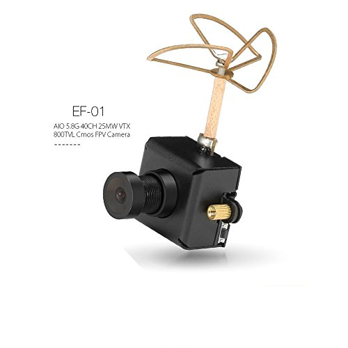 ARRIS EF-01 5.8G 40CH 25MW VTX 800TVL 1/3 Cmos FPV Camera AIO FPV Combo for Indoor FPV Drone Like Blade Inductrix Tiny Whoops (Free ARRIS Battery Straps) Arri Studio