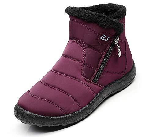DADAZE Herren Schneestiefel Damen Snow Stiefel Winterstiefel Winterschuhe Warm Gefüttert Wasserdichte Boots Outdoor