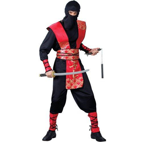 Kostüm Ninja Männer Black - Ninja Kampfsport Meister Verkleidung für Männer Halloween Karneval Kostüm M