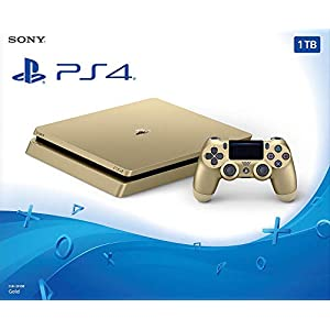 PlayStation 4 – Konsole (500GB, gold, slim) inkl. 2. DualShock Controller
