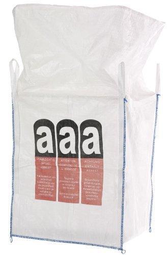 Produktbild Big Bag Asbest 90x90x110 cm mit 4 Schlaufen, 5000 KG Bruchlast DIN EN ISO 21898