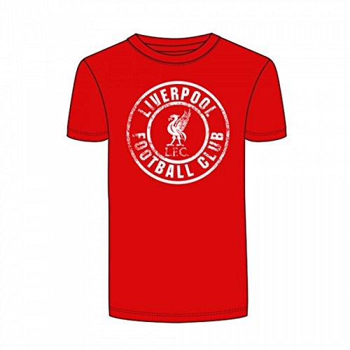 Liverpool FC - Camiseta de Manga Corta con Cuello Redondo Oficial Hombre (Pequeña (S)/Rojo)