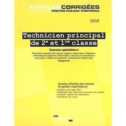 Technicien principal de 2e et 1re classe : Examens spécialités II