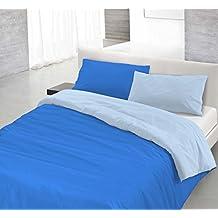 Funda nòrdica Royal/Azul claro 1 plaza (150 x 200 cm + 52 x 82 cm)