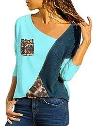 Weant Maglietta Elegante Sexy Casual Tops Blusa Taglie Forti Maglia  Maglione Pullover Camicetta Felpe Cappuccio… 369deabe497
