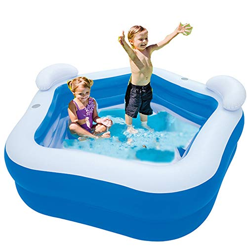LINGGE Piscina Hinchable Banera Piscinas Family Fun Lounge Pool Swim Center con...