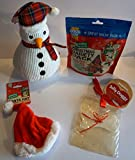 Paradise Pets CHRISTMAS DOG GIFT BOX WITH PLUSH SNOWMAN 300G DELI VARIETY PACK XMAS HAT & CARD