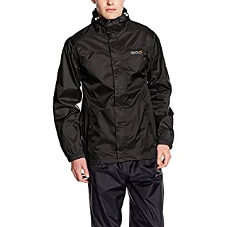 Regatta Waterproof Pack It II Men's Outdoor Jacket available in Black - X-Large
