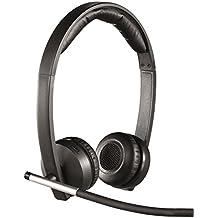 Logitech H820e - Auriculares inalámbricos (Wi-Fi, micrófono, control integrado, 103