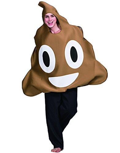 Scheiße Kostüm - EraSpooky Emoticon Kacke Kostüm Erwachsenen Emoji Karnevalskostüm (One Size, Brown)