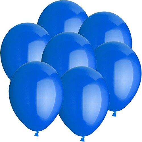 100x Rundballons BLAU Ø25cm + Geschenkkarte + PORTOFREI mgl. + Helium & Ballongas geeignet. High Quality Premium Ballons vom Luftballonprofi & deutschen Heliumballon Experten. Tolle Luftballondeko und Geschenkidee mit Ballons.