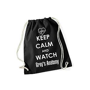 Grey's Anatomy Turnbeutel Rucksack mit Spruch Keep Calm