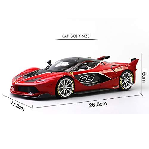 GAOQUN-TOY 1:18 Ferrari FXXK EVO Sportwagen Erwachsene Kollektion Version Simulation Legierung Automodell Ornamente (Farbe : Red, größe : 26.5cm*11.2cm*6cm) - Evo-kollektion