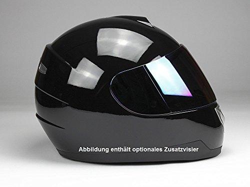 Integralhelm Motorradhelm Helm BNO F500 erschiedene Farben (XS,S,M,L,XL,XXL) (XXL, Schwarz glänzend) - 8