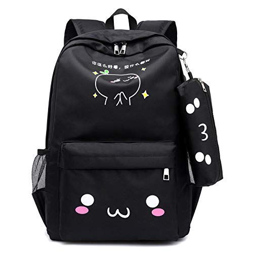 QMM Schultasche Rucksack Teen Rucksack Mädchen Schultaschen Für Teenager USB Großraum Frauen Schultasche Nylon Schulrucksack Süße Back Pack Female, Pink