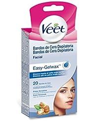 Veet Facial Bandas de Cera Depilatorias - 1 Pack