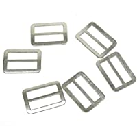 67c2595445f6ca Cooplay 50PC 20 mm larghezza interna argentato bronzo anello di metallo  fibbia DIY Luggage Belt shoe