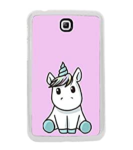Cute Unicorn 2D Hard Polycarbonate Designer Back Case Cover for Samsung Galaxy Tab 3 8.0 Wi-Fi T311/T315, Samsung Galaxy Tab 3 8.0 3G, Samsung Galaxy Tab 3 8.0 LTE