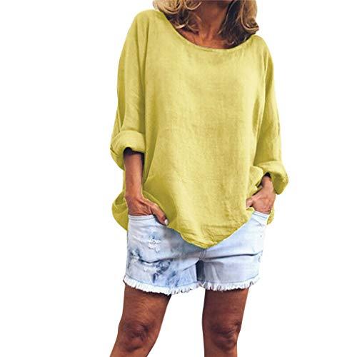 TianWlio Polo Shirt Damen Business Blusen Mode V-Ausschnitt Lose Einfarbig Drucken Langarm Top
