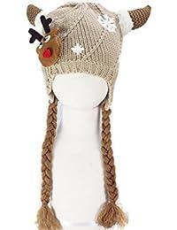 BONAMART ® Baby Boy Mädchen Strick Hüte Hut Cap Wintermütze Winter Mütze 6-24 Monate