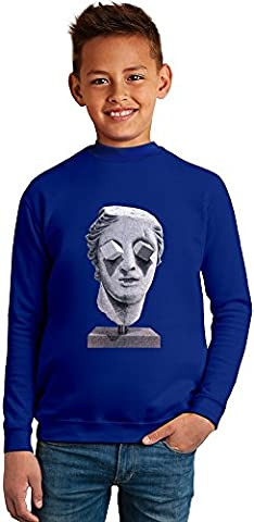 Psychedelic antique sculpture of Venus Superb Quality Boys Sweater by BENITO CLOTHING - 50% Cotton & 50% Polyester- Set-In Sleeves- Open End Yarn- Unisex for Boys and Girls 4-5 years