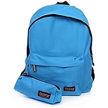 486e5db9ec DELBAG - Zaino Americano Color + TOMBOLINO 1 Zip Azzurro