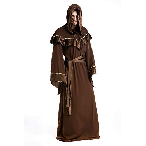 TBGGFSD Halloween Erwachsene Vampiro Festival Maestro Robe Monster Make-up Religioso Padrino Männer Mago Anzug Large