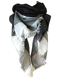 Transer® Foulards, Echarpe Carrée Colorée à Carreaux Multicolores écharpe  Triangulaire 140x220cm 815f066986f