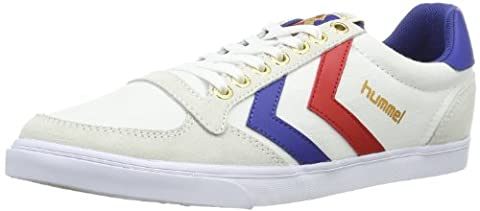 Hummel Slimmer Stadil Canvas, Unisex Adults' Low-Top Trainers, White (White/Blue/Red 9228), 11 UK
