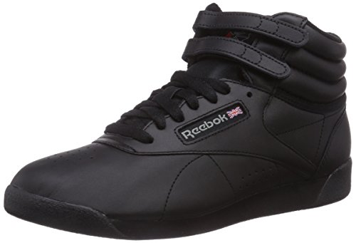 Reebok Freestyle Hi, Sneakers da Donna, Nero, 38.5