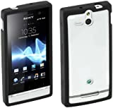 Sony Hard Rubber Clip-On Case Cover for Sony Xperia U by Made for Xperia - Black