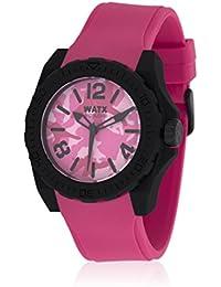 Watx RWA1856 - Reloj con correa de caucho para hombre, color rosa / gris