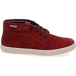 Victoria Zapatillas 06760 - Chukka Serraje Rojo, Color Rojo, Talla 40