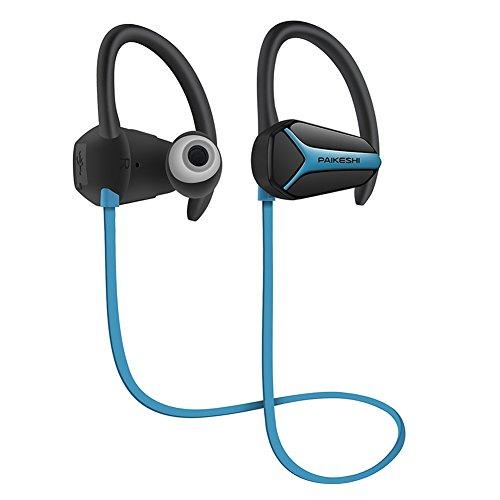 Bluetooth Kopfhörer drahtlose Sport-Kopfhörer wasserdichte HD Stereo Sweatproof Earbuds für Gym Running Jogging Noise Cancelling Headsets (blau)