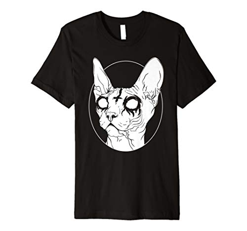 Black Metal Sphynx-Katze I Goth und Death Metal T-Shirt Damen-black Metal