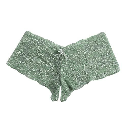 Timitai Neue reizvolle Frauen-Spitze-Wäsche Plus Größen-Unterwäsche-geöffneter Gabelungs-Bowknot-Unterwäsche