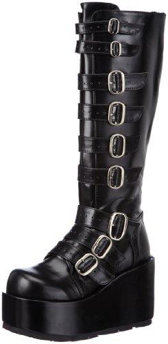 Gothic Stiefel - Demonia CONCORD-108 Damen Stiefel, Schwarz (Blk