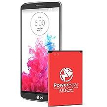 Powerbear LG G3 Batería | Batería de 3000mah Li-Ion para LG G3 [D855] | Batería de Repuesto G3 [24 Meses de Garantía]