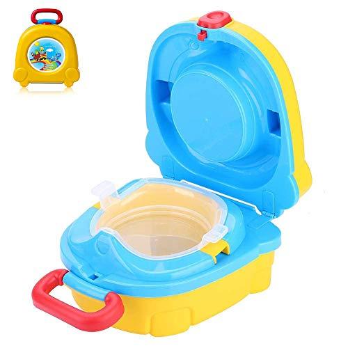 YUEFF Tragbare Baby WC Reise Camping Toilettensitz Töpfchen Faltbare Kinder Training Bedpan Stuhl Assistent Hygiene Versorgung Lagerung Haken Für Outdoor Indoor