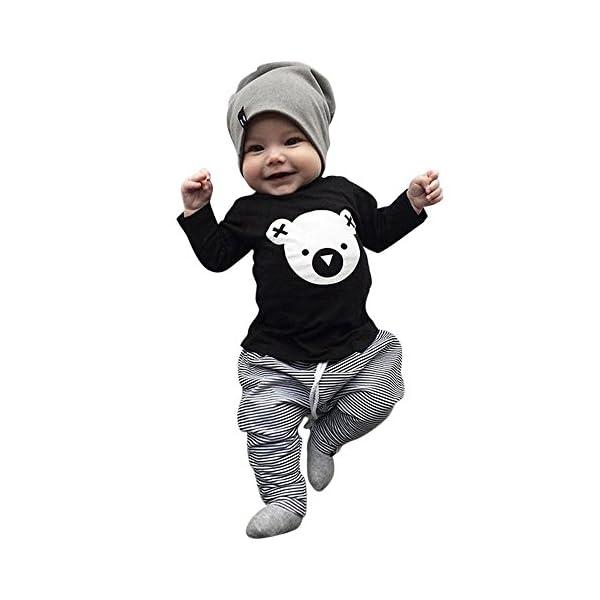 VECDY Ropa Bebe Niña 2PC Ropa Recién Nacido Infantil Bebé Niños Carta Imprimir Chaleco Tops Camiseta Sin Manga Denim… 1