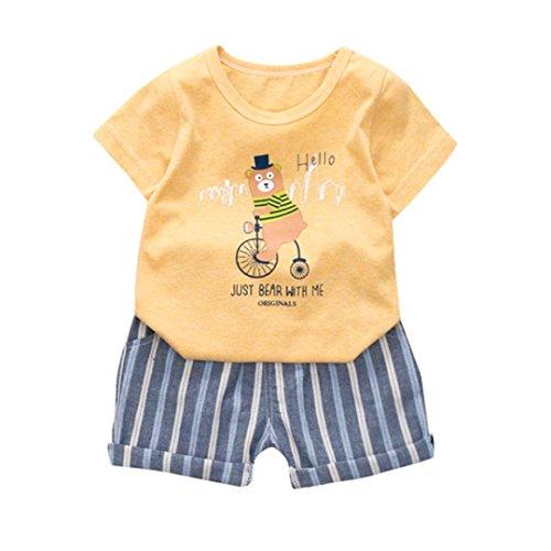 showsing Baby Jungen (0-24 Monate) Bekleidungsset Gr. 12-18 Monate, Gelb (Tröster 16 Stück)