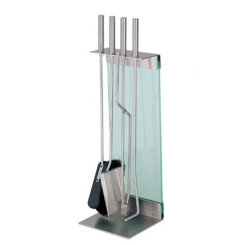 Preisvergleich Produktbild Conmoto Teras Kaminbesteck 5-teilig Edelstahl Glas klar